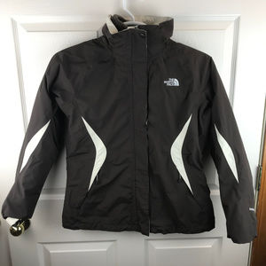 North Face Hyvent 2 in 1 Jacket Coat Brown Medium